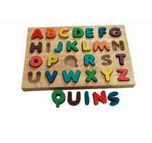 Coloured Timber Capital Letter Puzzle