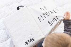 My Alphabet Fabric Counting Book - Organic Cotton