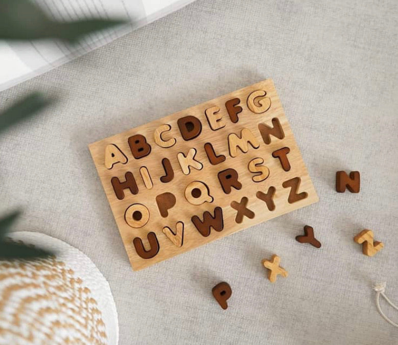 Natural Timber Capital Letter  Puzzle