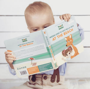 At The Beach Interactive Touch and Feel Mizzie Baby Board Book
