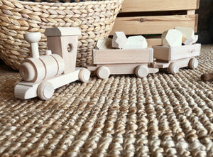 Wooden Toy Cargo Train Set