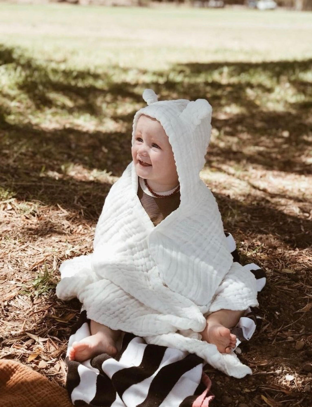 Organic Muslin Cotton Hooded Towel with Ears