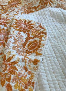 Autumn Square Padded Kantha Quilt