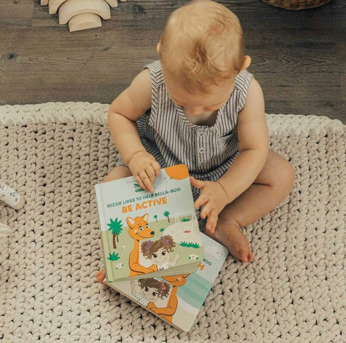 Be Active Interactive Touch and Feel Mizzie Baby Board Book