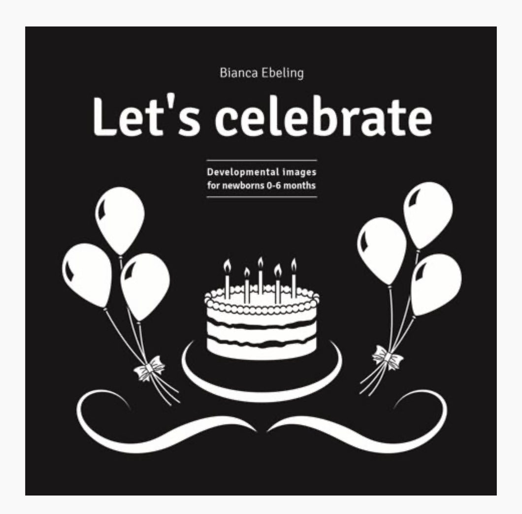 Let's Celebrate - black and white board book