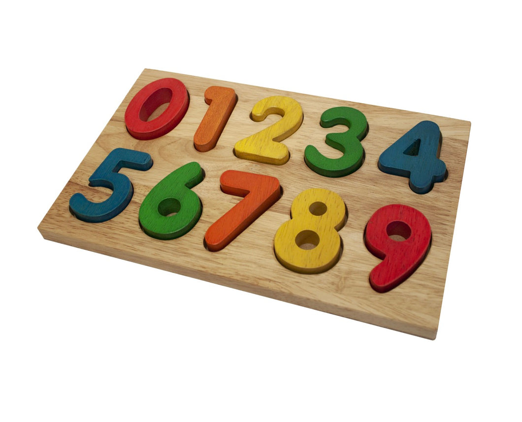 Coloured Timber Number Puzzle