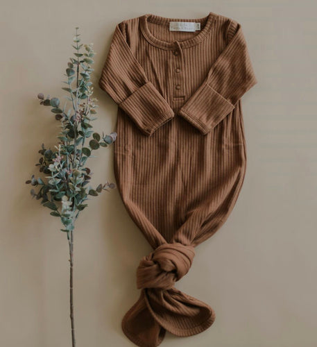 Organic Cotton Knotted Baby Gown
