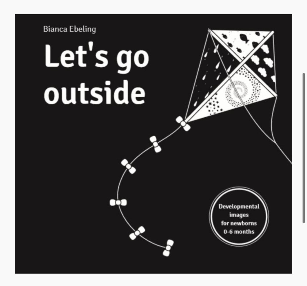 Let's Go Outside - black and white board book