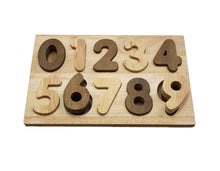 Natural Timber Number Puzzle