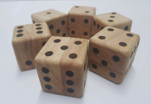 Wooden Dice - Set of 6