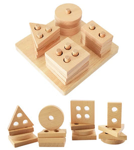 Beechwood Shape Stacker