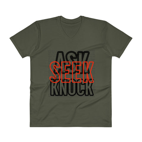 ASK V-Neck T-Shirt