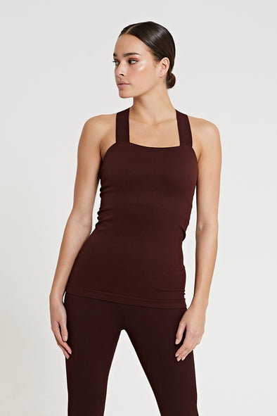 Fitted top with built-in bra - Fig