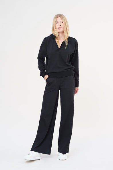 High-waisted flared pants - Charcoal