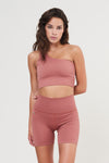 LUNA Rib Short - Clay Pink