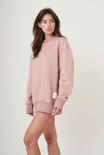 Oversized soft sweater - Clay Pink