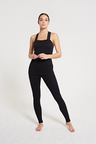 LUNA Rib Legging - Black