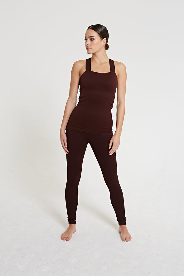 LUNA Rib Legging - Fig