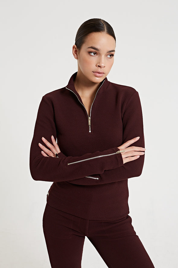 Structured long-sleeve top - Fig