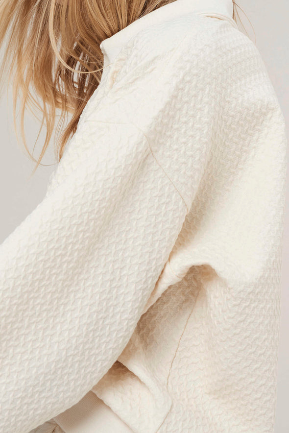 Comfortable v-neck sweater - Pearl