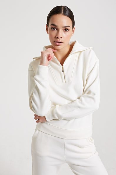 Half-zip sweater - White