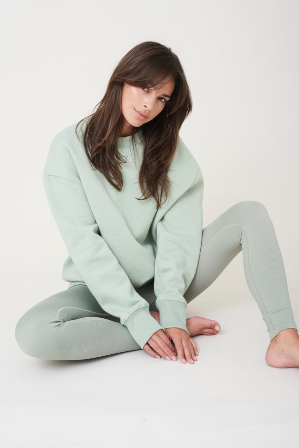 Oversized soft sweater - Sage Green
