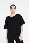 Relaxed fit structured tee - Black