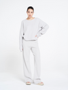 Relaxed fit structured flared pants - Mouse Grey
