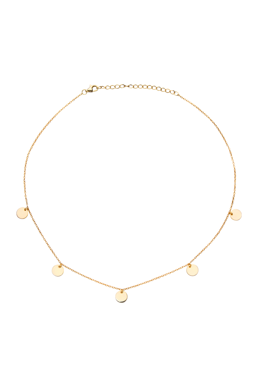 Polka Choker in Gold