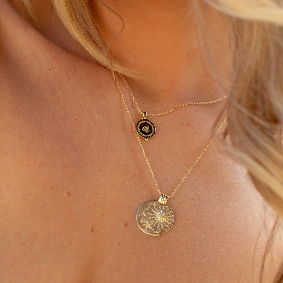 Seaside Necklace in Gold