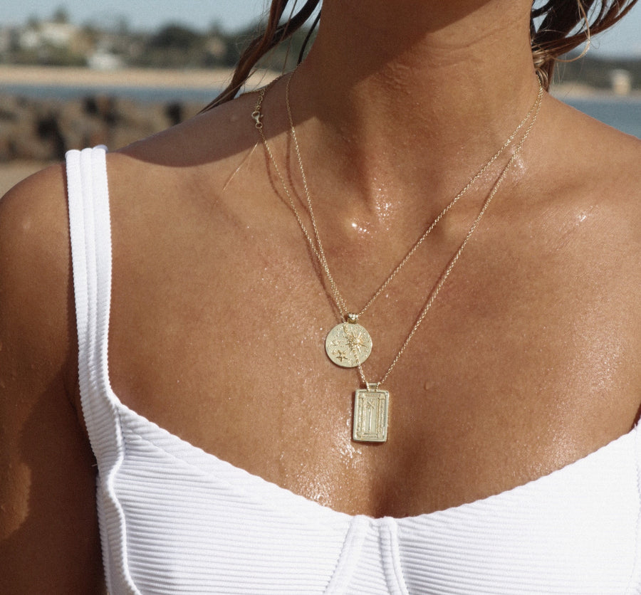 Palm Necklace in Gold
