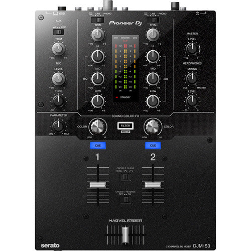 Pioneer DJ DJM-S3 2-Channel DJ Mixer for Serato