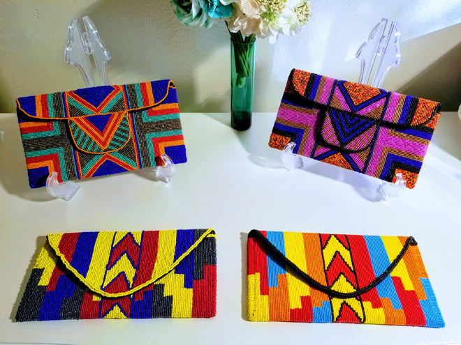 Metallic & Hand Painted Clutches
