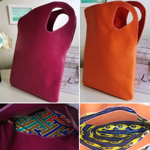 Asymmetric Leather Tote - Zai & Ami Designs