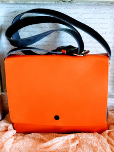 Orange & purple Leather satchel - Zai & Ami Designs