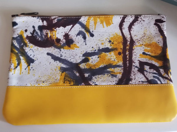 Hand Painted Leather Clutches - Zai & Ami Designs