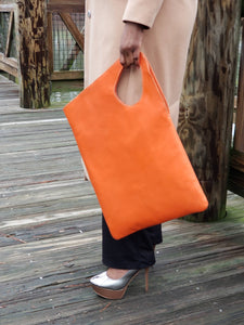 Asymmetric Leather Totes - Large - Zai & Ami Designs