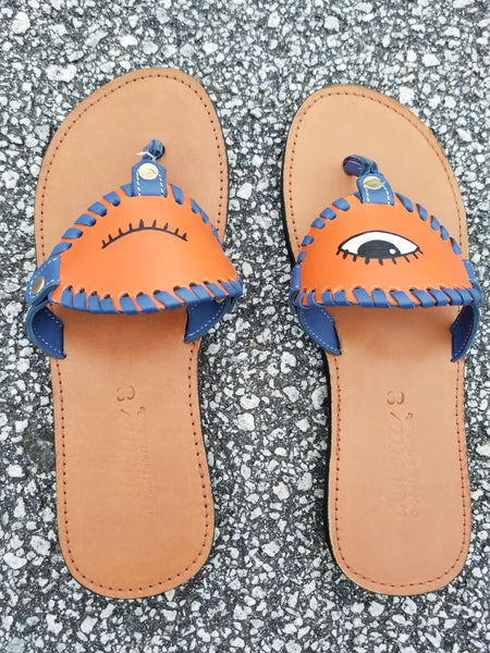 Winking Eye Toe Post Sandal - Zai & Ami Designs