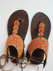 Sunset Dreams Beaded Sandals - Zai & Ami Designs