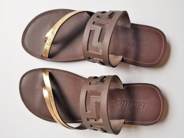 Halogen Chocolate Laser Sandals - Zai & Ami Designs