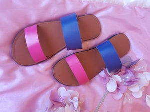 Pink & Blue Slides - Zai & Ami Designs