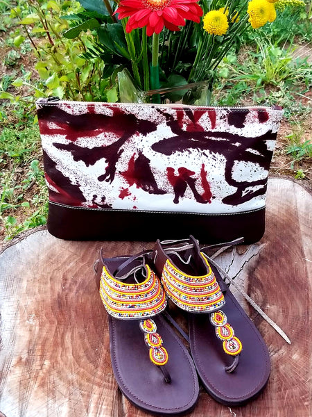 Hand Painted Leather Clutches