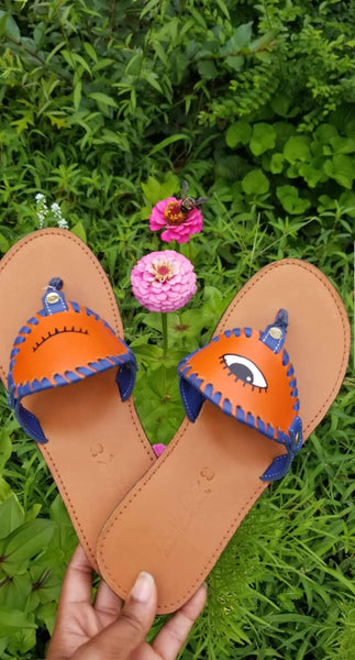 Winking Eye Toe Post Sandal