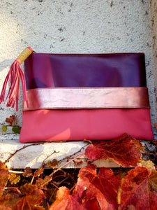 Metallic Rose Gold Clutch - Zai & Ami Designs