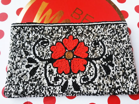 Flower Beaded Clutch - Zai & Ami Designs