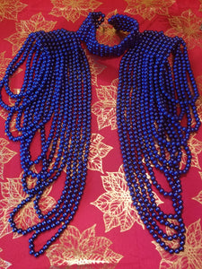 Bead Shoulder Waterfall Necklace - Zai & Ami Designs
