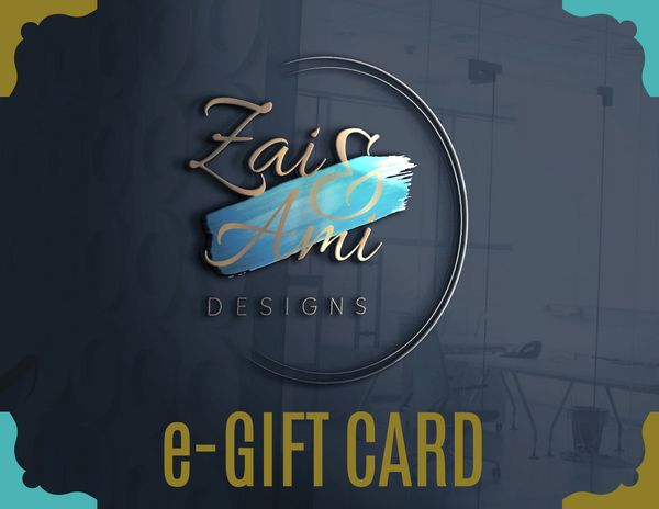 E-Gift Card - Zai & Ami Designs - Lifestyle Brand Of Handmade Fashion Accessories
