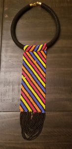 Black Necktie Necklace