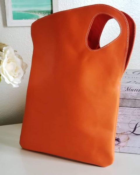 Asymmetric Leather Tote - Small - Zai & Ami Designs