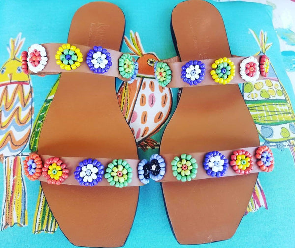 Square Cut Duo Strap Sandals